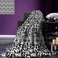 Одеяло с принтом Далматинских собак  черно-белое  с рисунком щенков  с меховым узором  забавное  Пятнистое  для домашних животных  дизайнерск...