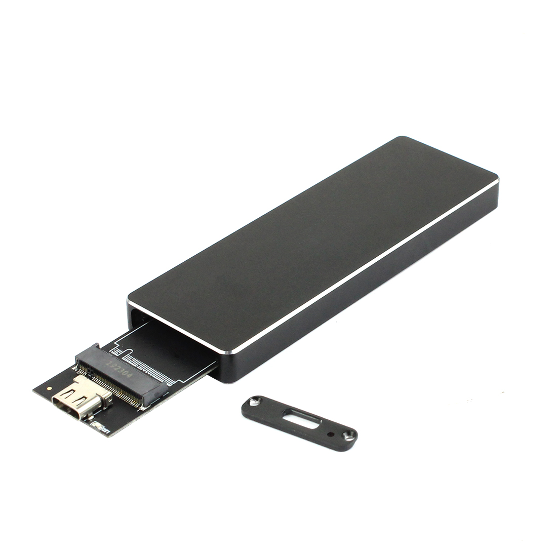 NVME SSD Enclosure PCI-E M.2 to USB C Type-C Adapter USB3.1 Gen2 10Gbps M2 PCIE Hard Disk External Drive Box w/ Heatsink