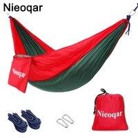 초경량 1-2 사람 그물 침대 야외 캠핑 여행 하이킹 잠자는 침대 피크닉 스윙 텐트 단일 텐트 빨강  녹색 230*90 cm