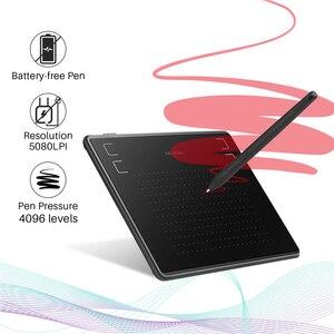 Image 4 - HUION tableta Digital de dibujo gráfico H430P, bolígrafo de firma, tableta de juego OSU con batería, bolígrafo Stylus gratis con regalo