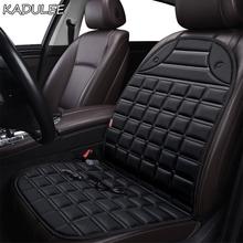 KADULEE 12V podgrzewane siedzenie samochodu pokrywa dla jaguara wszystkie modele F-PACE XE XJ XF XEL XJL XFL poduszki zimowe car styling tanie tanio Cztery pory roku Z włókien syntetycznych CN (pochodzenie) Pokrowce i podpory Podstawową Funkcją Ogrzewanie 10 XZ-4