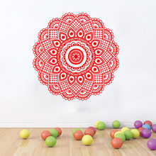WJWY Mandalas Wall Stickers Yoga Lotus Flower Pattern Art Vinyl Wall Decals Decoration Living Room Bedroom Self Adhesive Murals(China)