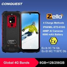 """כיבוש S16 /S16 ATEX IP68 עמיד למים מחוספס חכם נייד טלפון 6.3 """"תצוגת 8GB 256GB 48MP אנדרואיד smartphone טלפון סלולרי"""
