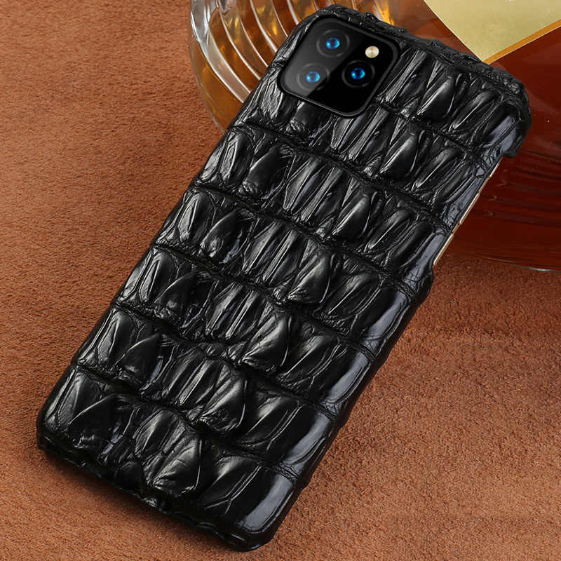 100% Echt Krokodillenleer Telefoon Case Voor Apple Iphone 11 11 Pro 11 Pro Max Xr X Xs Max 6 7 8 8 Plus 6S Luxe Marvel Cover