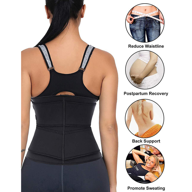 Fitness Body Shaper Band Weight Loss Sweat Slimming Waist Trainer Support Belt for Effective Working-out Accessories Dropship 2