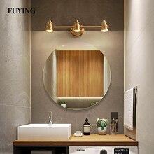 Maquiagem Profissional Completa specchio da bagno lampada frontale camera da letto in rame pieno illuminazione moderna lampada da parete a LED minimalista