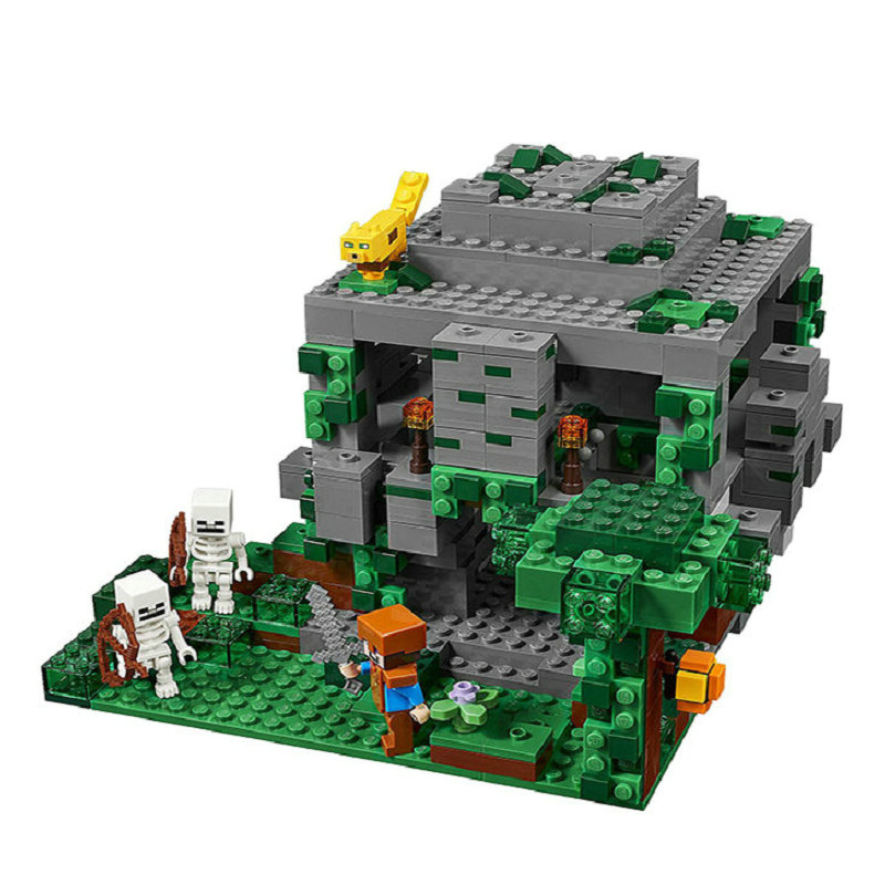 The Jungle Temple Building Block With Steve Action Figures Compatible LegoINGlys MinecraftINGlys Sets Toys For Children 21132 10
