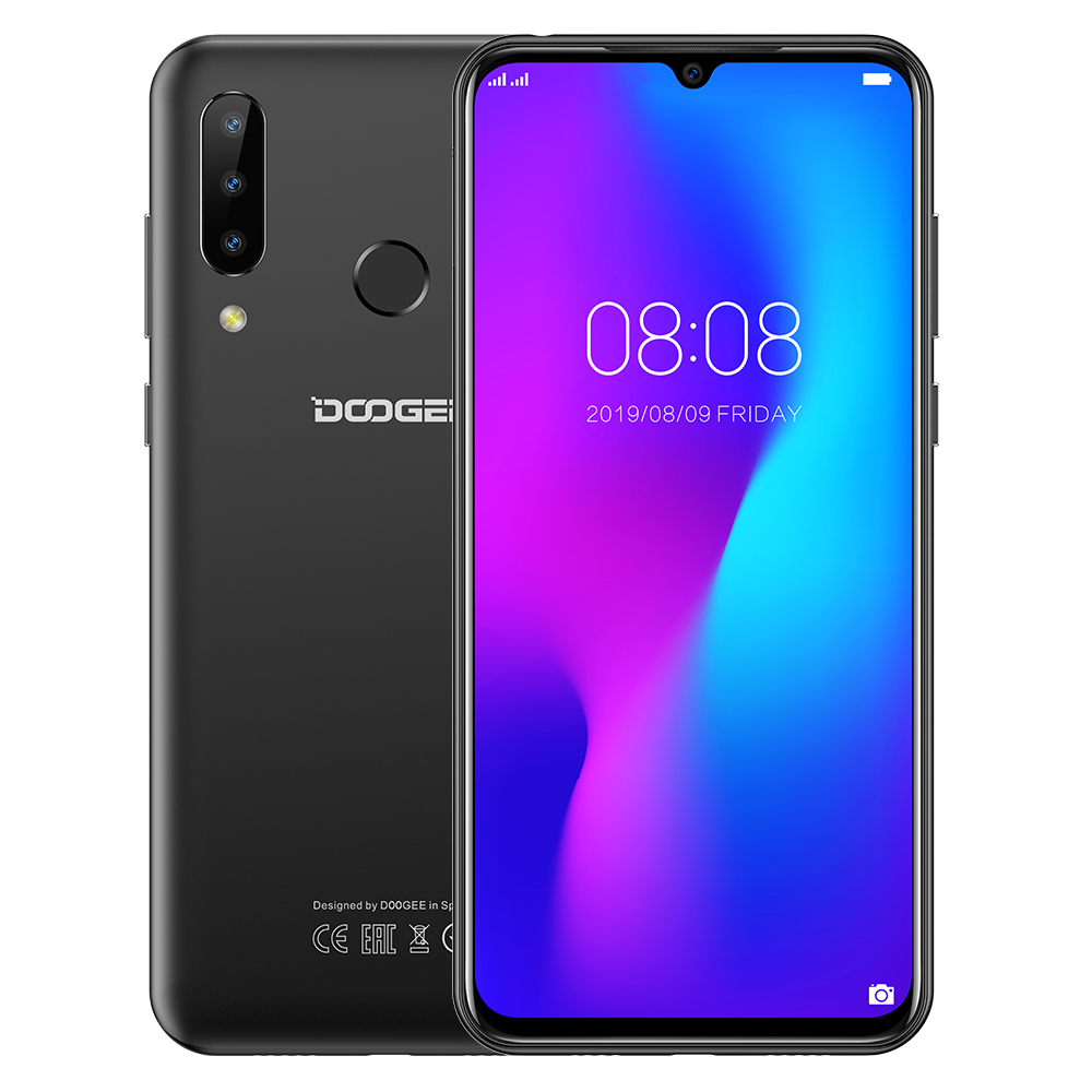 DOOGEE N20 4G Mobile Phone  4GB RAM 64GB ROM 6.3inch FHD+ 428ppi IPS Screen 16+8+8 MP Rear Triple Camera 4350mAh Android 9.0 Pie