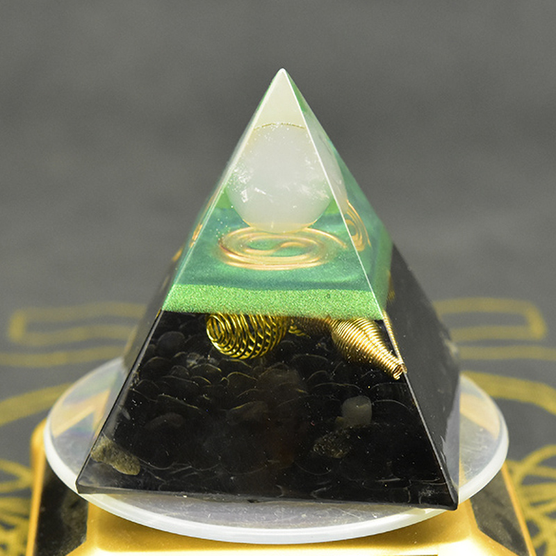 Aura Orgonit Pyramid Chakras Rose Quartz Stone Orgon Energy Crystals Original Home Office Decor Resin Reiki Gift Decoration