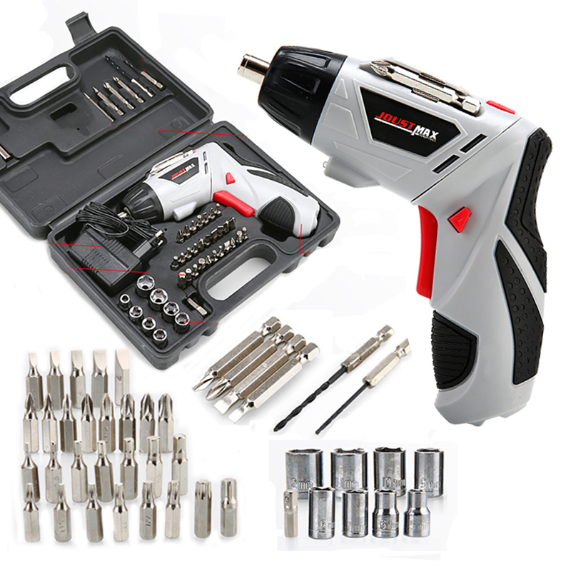 4.8V Electric Screwdriver Multi-function Charging Hand Drill With 45 Bits Mini Wireless Electric Screwdriver Set