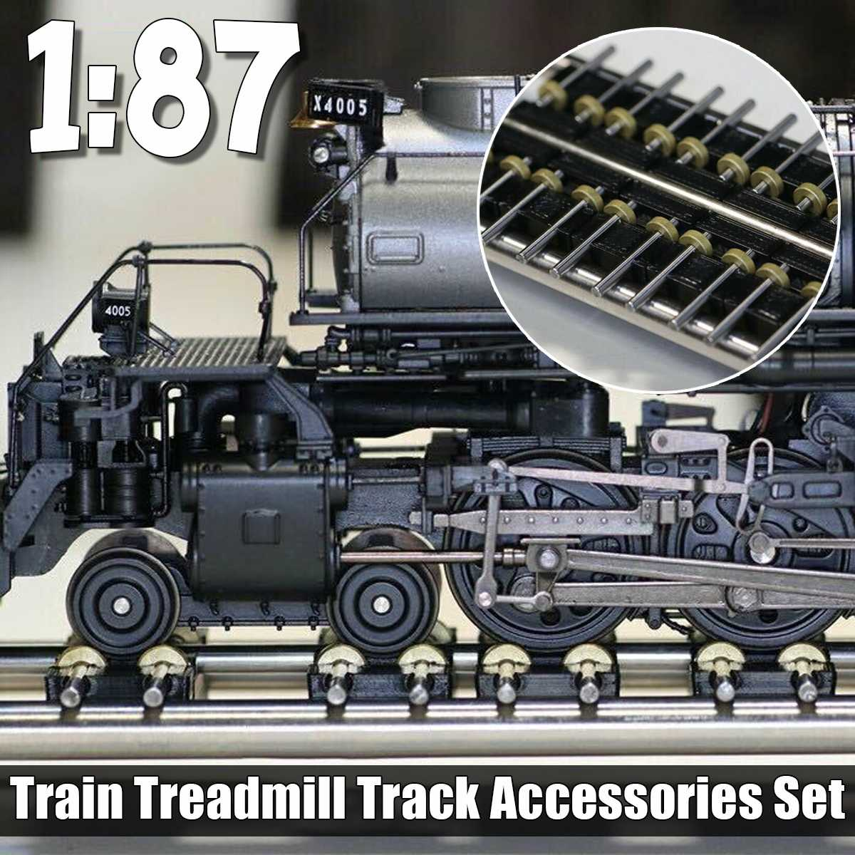 NEW 1/87 Model Train Ho Scale Accessories One-axis Module Treadmill Treadmill And Connecting Line