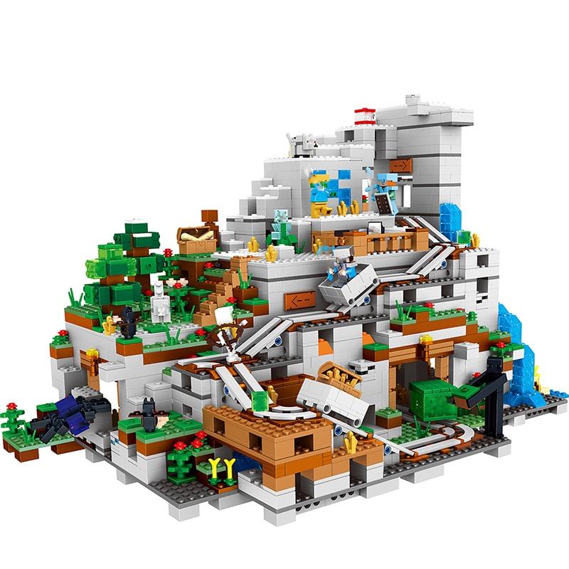 Моя всемирно известная архитектура, Железный голем, горные пещеры, строительные блоки, совместимые с legoingLYs 21137, рождественские детские игрушки для малышей - 2