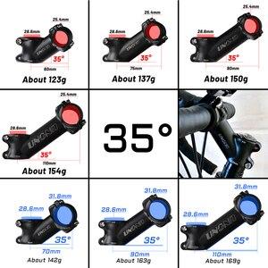 Image 5 - UNO hauteur de tige de vélo, guidon de vélo, en alliage daluminium, tige de 35 degrés, pièces déquipement de cyclisme 25.4/31.8mm