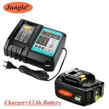 2020 18v 12ah bateria recarregável 12000mah bateria li-ion bateria de energia de substituição para makita bl1880 bl1860 bl1830 + 3a carregador