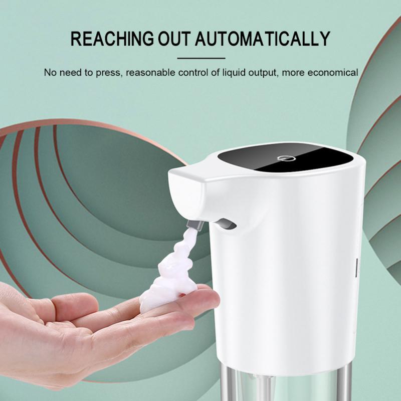 H21ac60659a3840fbbc3a7f1c7a2321dam - 275ml Automatic Soap Dispenser Vertical Touchless Induction Foam Electric Smart Sensor Liquid Soap Dispenser Bathroom Kitchen