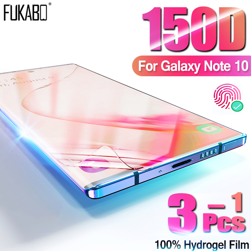 3-1Pcs Hydrogel Soft Film For Samsung Galaxy S9 Note 10 Plus A10 A50 A20 Screen Protector For S10 A51 A71 A70 A30 Film Not Glas