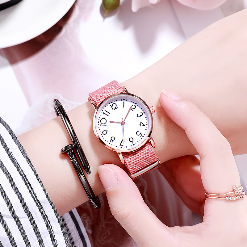 Casual Quartz WristWatch Gift For Girls Clock Fashion Kid Watch Children Watch Canvas Strap Kids Watches Girls Relogio Infantil