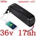 36V 500W 1000 W  фара для электровелосипеда в е-байка 36В 17AH литий-ионный аккумулятор 36В электрический велосипед батареи использования panasonic сотовы...