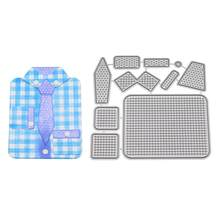 1pc matrices de découpe Mini costume d'affaires mignon en acier au carbone Durable gaufrage pochoir moule moule pour Album Photo(China)