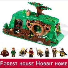 8 фигурок Hobbited Home Лес Дерево дом город Совместимость Legoed фильм 2 неожиданная игрушка Сбор строительный блок подарок на день рождения