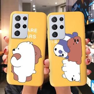 Image 1 - Cartoon Bear Soft Case For Samsung S21 Ultra Case For Samsung S20 FE S21 Plus Note 20 10 Lite Note20 Ultra 8 9 Cases Cover Coque