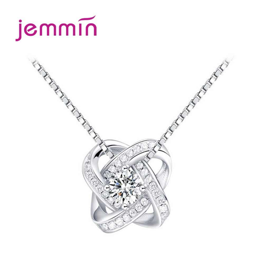 Luxo feminino zircônia colares 925 prata esterlina cz cristal flor design pingente pescoço gargantilha jóias femininas atacado