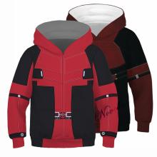 Kids Deadpool Costume Cosplay 3D Print Marvel Superhero 2 Hoodie Child Boys Casual Hoodies Streetwear Hooded Sweatshirt