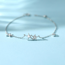 Silver Star Full Zircon Charm Bracelet 925 Lucky Starfish Bracelets For Women Girl Gift Beads Bracelet Fashion jewelry цена 2017