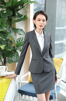 High Quality Fabric Blazers Suits With Tops And Skirt Women Business Uniform Designs Female Blazers & Jackets Work Wear Sets