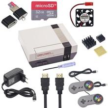 Чехол Retroflag NESPi + чехол для Raspberry Pi + геймпад + вентилятор + радиатор дополнительно на SD карту 32 Гб