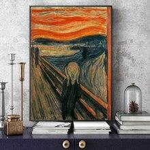O grito pintura por edvard munch pinturas em tela famosas reproduções abstrata screamer cartazes de parede cuadros decoração para casa