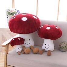 16-45cm criativo bonito pequeno cogumelo brinquedos de pelúcia recheados vegetais cogumelo macio pelúcia boneca brinquedo crianças criança bebê brinquedos kawaii presente