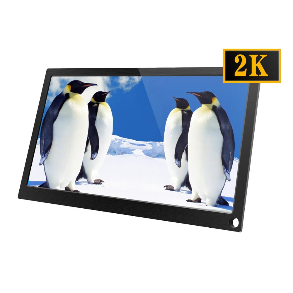 11 inch 2K 2560*1440 IPS Screen Portable Gaming Monitor LED LCD Displays PS3/4 Xbox360 Tablet Display for <font><b>Windows</b></font> 7 8 <font><b>10</b></font> image