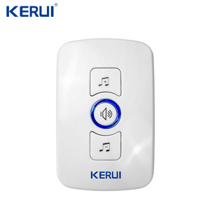 Image 2 - Kerui Wireless Doorbell System 32 Songs Optional Doorbell Transmitter Chime Welcome Security Alarm System Build in Antenna