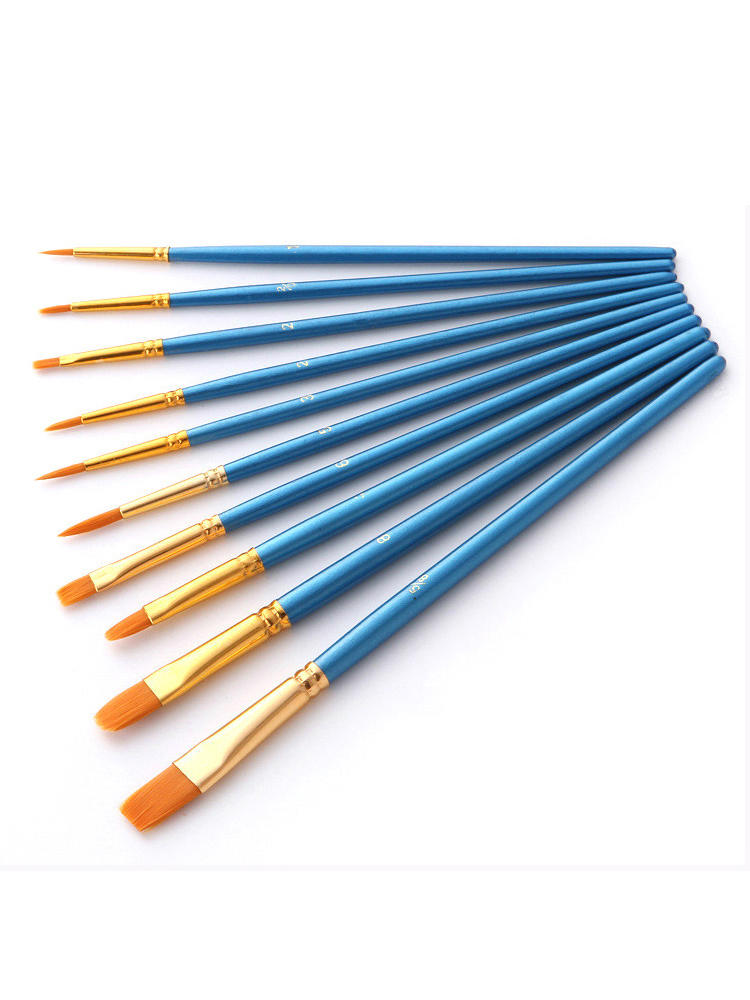 Set Paint-Brushes Painting Watercolor Acrylic-Oil Artist Professional BOMEIJIA for 10pcs/Pack