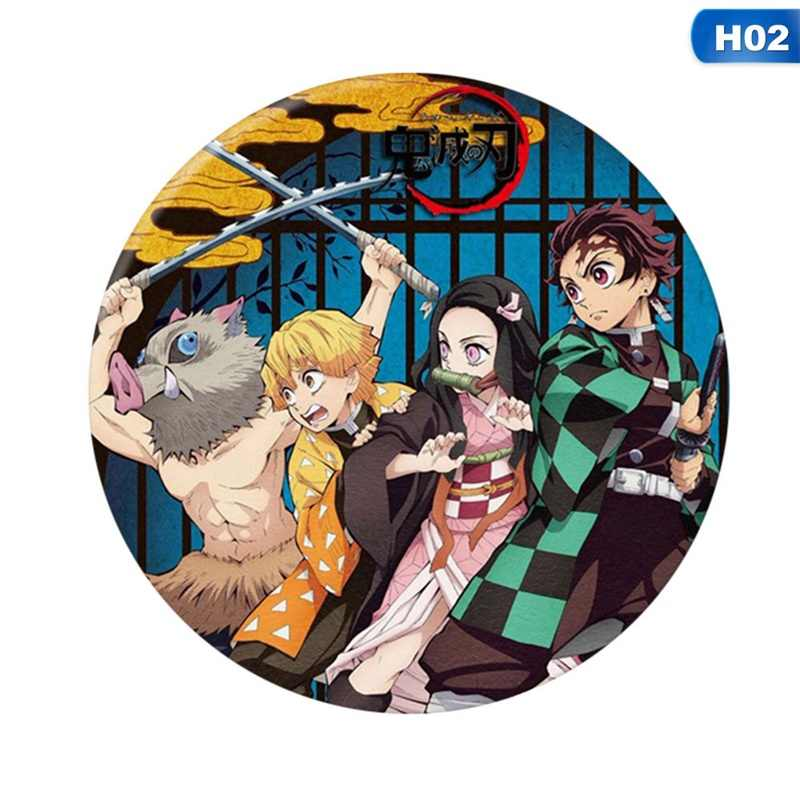 Anime Demon Slayer: Kimetsu nie Yaiba Kamado Tanjirou Cosplay Bedge Cartoon zebrać plecaki torby odznaki przycisk broszka Pins