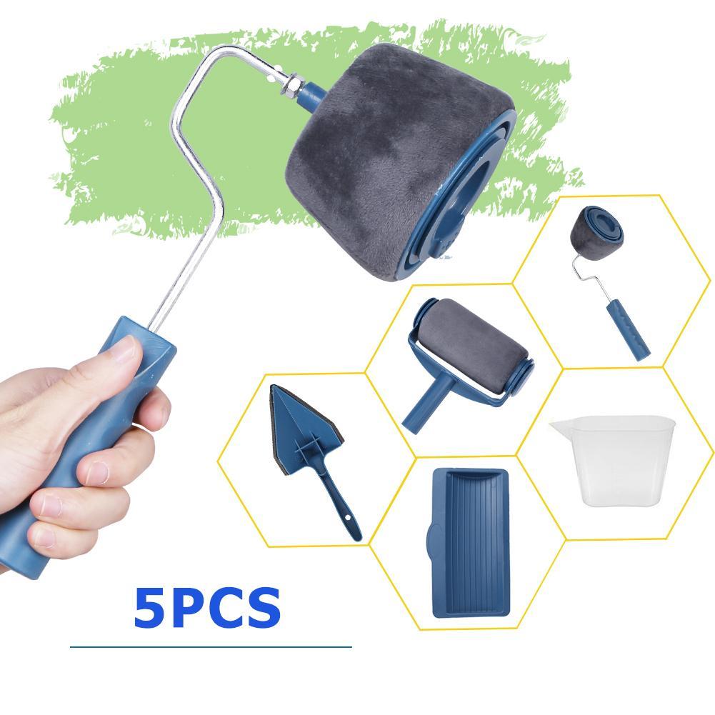 5pcs Home Use Wall Decor Paint Brush Multi Function Paint Pad Household Tool Set