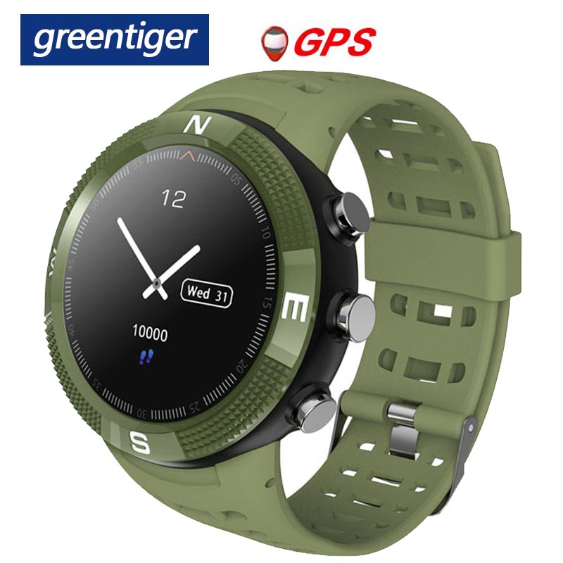 Greentiger F18 Smartwatch GPS podomètre IP68 étanche appel Message rappel hommes femmes Bluetooth Sport montre intelligente Android IOS-in Montres connectées from Electronique    1
