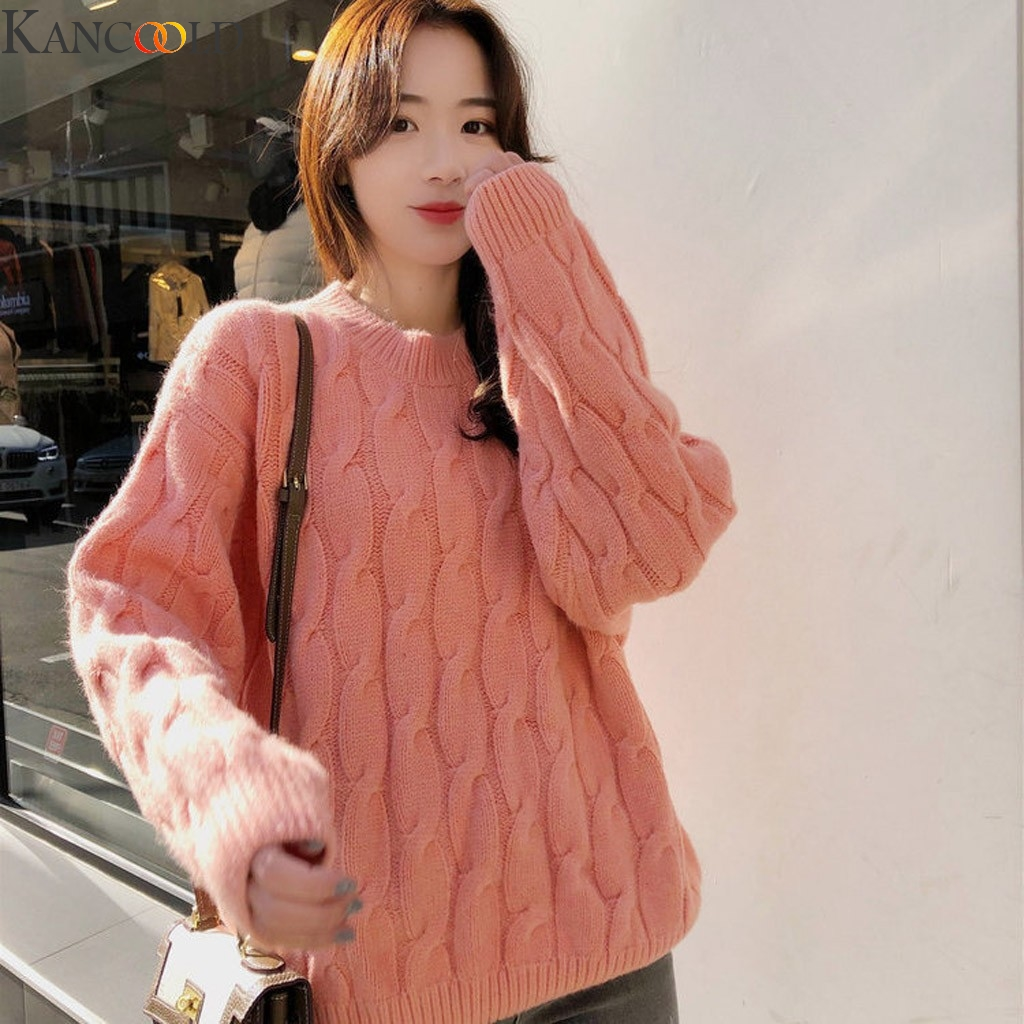 KANCOOLD 5 Colors Autumn Women Lady Sweater High Elastic Solid O-Neck Sweater Women Slim Sexy Tight Bottoming Knitted Pullovers