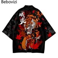 Мужской халат кимоно с рисунком в японском стиле 1