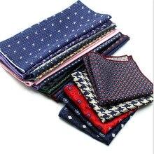 Роскошные мужские% 27 носовой платок горошек горошек полосатый цветочный принт платки полиэстер платок бизнес карман квадрат грудь полотенце