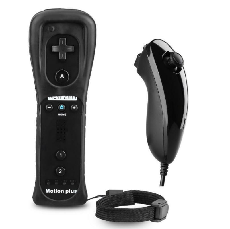 Новый 2 в 1 для Wii беспроводной пульт дистанционного управления ремешок на руку nunchuk контроллер для Nintendo Wii с движением плюс защитный чехол