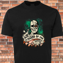 2019 100% Cotton Black T-Shirt Scary Legend Of The Zombie Graveyard Cool New Design Tee Shirt Hoodies