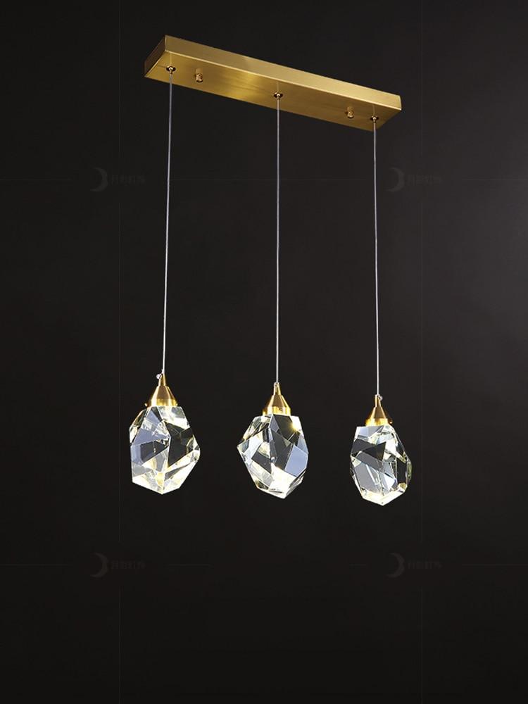 Moonshadow Pendant Lights Bedroom Led Full Brass Crystal Nordic Lamp Luminaire Suspension Decoration Salon Hanging Lamp 220v Pendant Lights Aliexpress