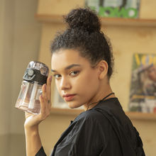 Delebei чашка с соломой креативная Студенческая со шкалой Спортивная