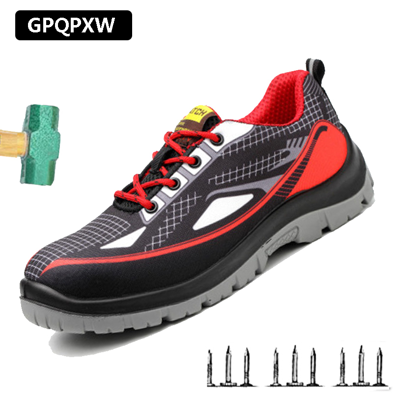 2019 Labor Insurance Shoes Lightweight Breathable Safety Work Shoes Steel Toe CapsAnti-smashing Anti Puncture Men's Winter Boots