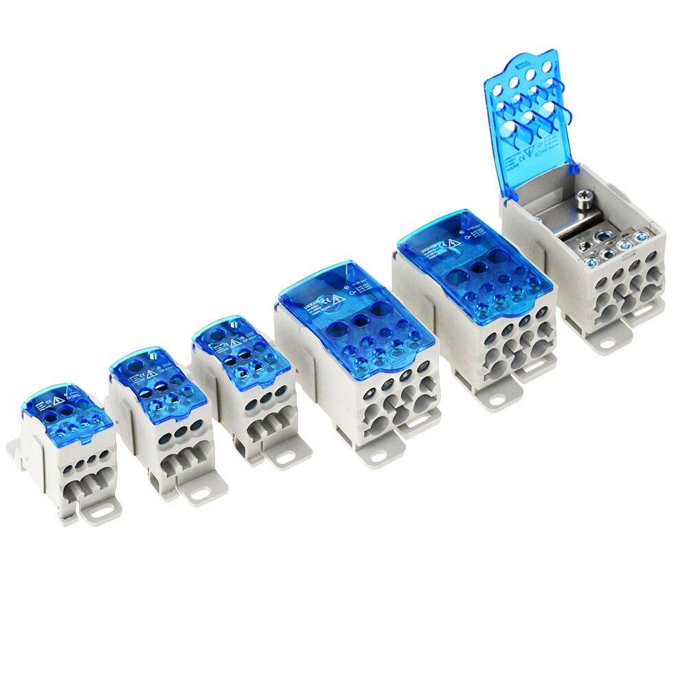 UKK80A 125A 160A 250A 400A 500A bornier 1 dans beaucoup de boîtier de distribution de Rail Din connecteur de fil électrique universel
