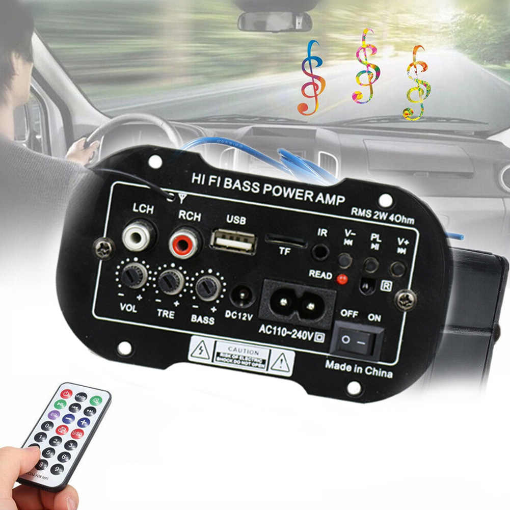 Bluetooth Audio Auto USB 2 Din Bass Fernbedienung Auto Radio TF Digitale Subwoofer Stereo Power Verstärker Mini Hallo-fi