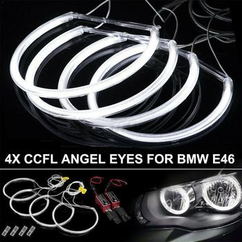 Car Led Headlight Circle For BMW E46 E39 E38 Ultra Headlamp Bright Flexible E-code CCFL Led Headlight White Car Accessories E9M9 image