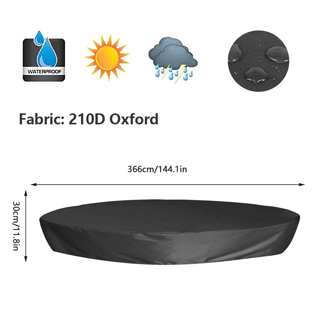 H21ae3396028246618dd692fa2683959fp - Round Pool Cover Foldable Black Bathtub Cover 210D Oxford Anti-UV Protector Spa Tub Dust Waterproof Cover Swimming Accessories